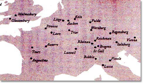 Irish Monasteries throughout Europe